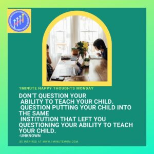 Tips and advice for homeschooling parents. A Homeschooling motivational meme